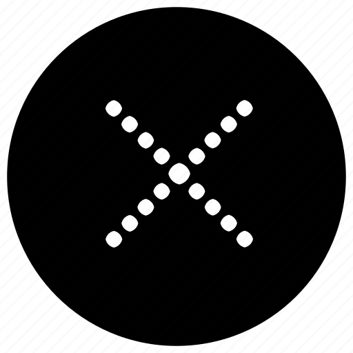 cross, dot, mobile, phone, web icon