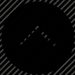 arrow, dot, mobile, phone, up, web icon