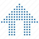 home, index, lattice, matrix, pixel icon