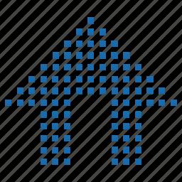 home, index, lattice, matrix, pixel icon