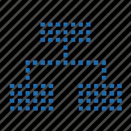 agency, management, matrix, organization, pixel, zuzhi icon