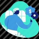 money, settings, finance, options, man