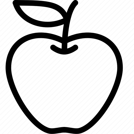 apple, eat, food, fruit, nature icon