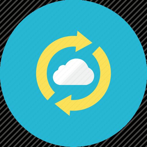 2, cloud, refresh icon