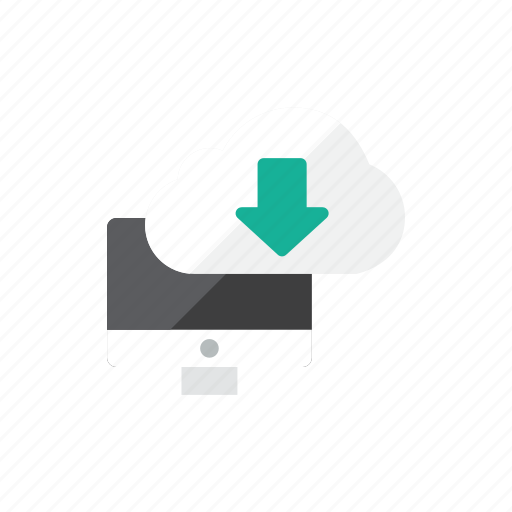 cloud, computer, download icon