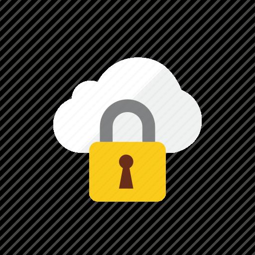 cloud, locked icon