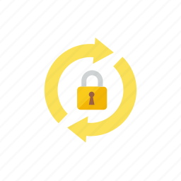 lock, refresh icon