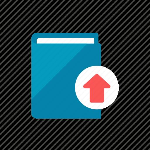 book, upload icon