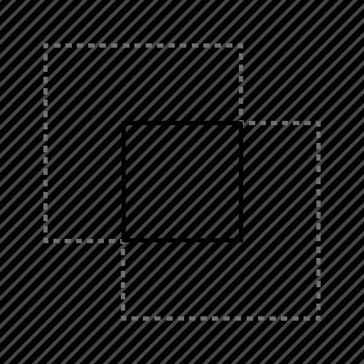 design, draw, ilustrate, interseccion, intersection, paint, square icon