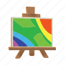 art, drawing, easel, graphic, paint, painting icon