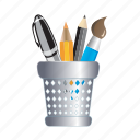 box, brush, package, pen, pencil icon