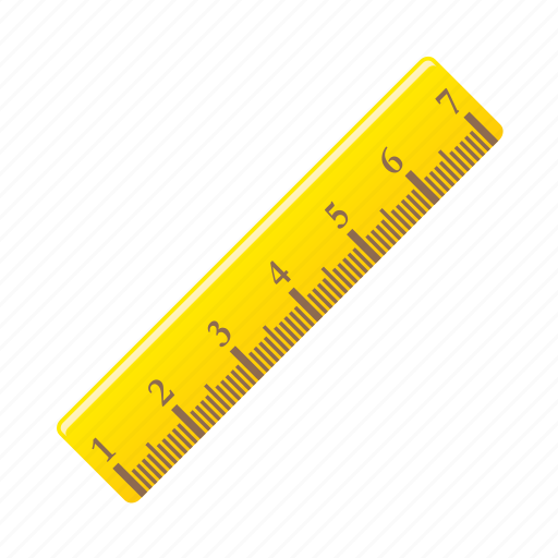 Ruler, geometry, measure, meter, measurement icon