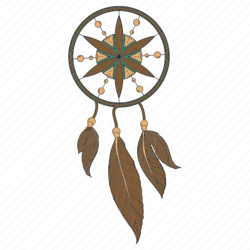dream, dreamcatcher, feathers, handmade, hippie, indian, luck icon