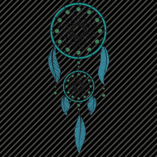 dream, dreamcatcher, feathers, handmade, hippie, indian, luck icon