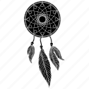 bad dream, dream, dreamcatcher, good dream, indian, luck, tattoo icon