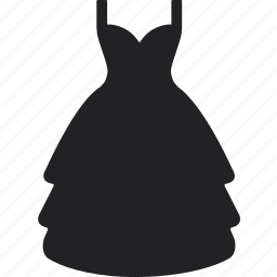 clothes, dress, long, party, shop, shopping, skirt icon