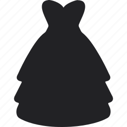 clothes, dress, long, party, shopping, skirt icon