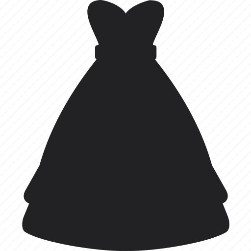 clothes, dress, long, shopping, skirt, wedding icon