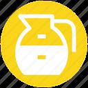 glass jar, jar, jug, jug of milk, milk jug, pot icon