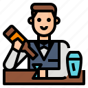 alcohol, bar, bartender, drink icon