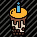 bubble, drink, milk, tea icon