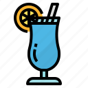blue, cocktail, drink, hawaii icon