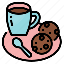 break, coffee, cookie, drink