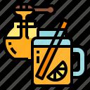 drink, health, honey, lemon