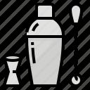 bartender, drink, shaker, utensil icon