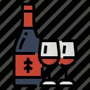alcoholic, beverage, drink, wine icon