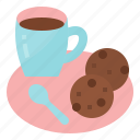 break, coffee, cookie, drink icon