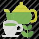 green, healthy, hot, tea icon