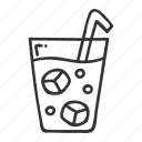 bar, coffee, cold, set icon