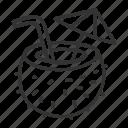 1, bar, coconut, coffee, drinks, set icon