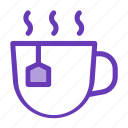 bag, cup and tea, drink icon, hot drink, instant icon icon