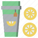 beverage, cold, drink, ice, lemon, refreshment, tea icon