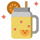 beverage, citrus, fresh, jar, juice, lemonade, liquid icon