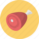 cooking, food, ham, meat icon