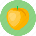 food, fruit, peach icon