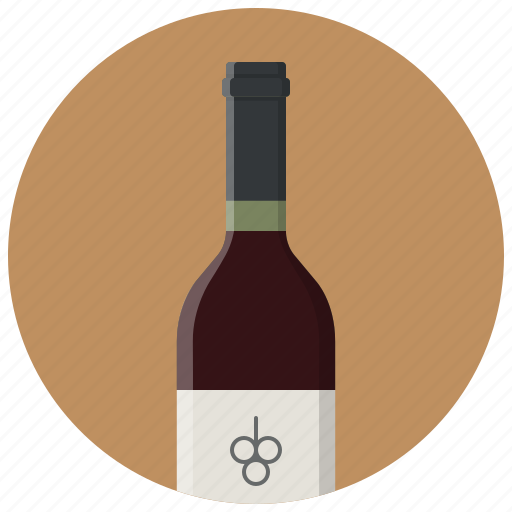 alcohol, bottle, drink, red, wine, wine bottle icon