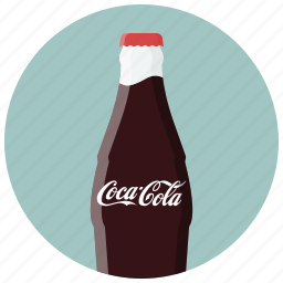 bottle, coca, coca cola, drink, drinks, soda icon