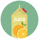 beverage, carton, drink, drinks, juice, juice bottle, orange icon