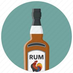 alcohol, alcoholic drink, bottle, drink, drinks, pub, rum icon