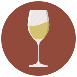 alcohol, dinner, drink, glass, restaurant, white wine, wine icon