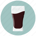 coca, coca cola, drink, glass, glass of drink, soda, soft drink icon