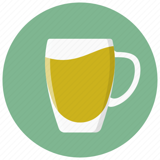 coffee, cup, glass, handle, tea icon