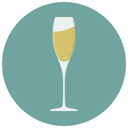 alcohol, beverage, champagne, drink, glass icon