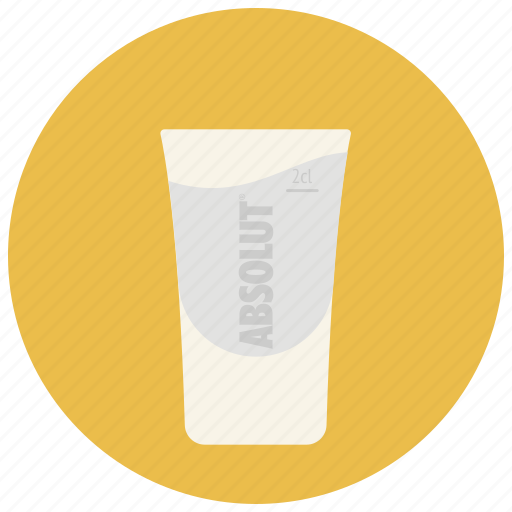 absolut, alcohol, bar, drink, glass, shot, vodka icon