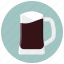 alcohol, beer, beer mug, dark beer, drink, drinks, glass icon