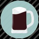 alcohol, beer, beer mug, dark beer, drink, drinks, glass icon